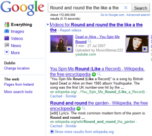 Googling Round and round the the