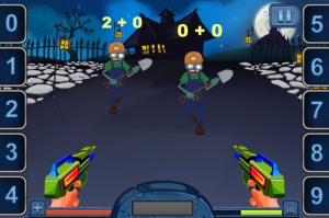 Screenshot of Math Vs Zombies Level on iPhone
